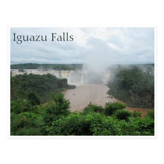 iguazu falls spray postcard