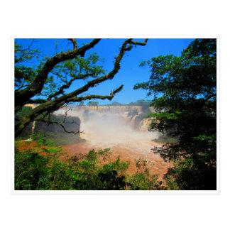 iguazu falls waters postcard