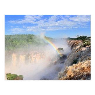 iguazu rainbow postcard