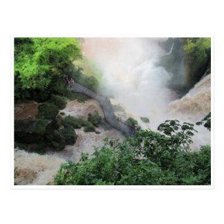 iguazu walkway postcard