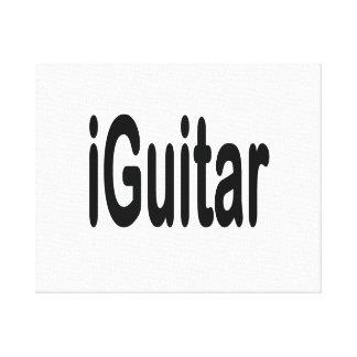iguitar music musician black text canvas print