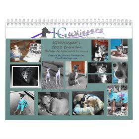 IGWhispers' 2012 Italian Greyhound Calendar calendar