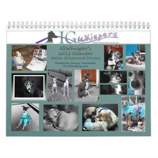 IGWhispers' 2012 Italian Greyhound Calendar