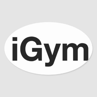 iGym Oval Sticker