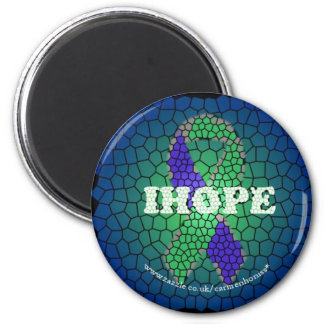 IH Stained Windows copy 2 Inch Round Magnet