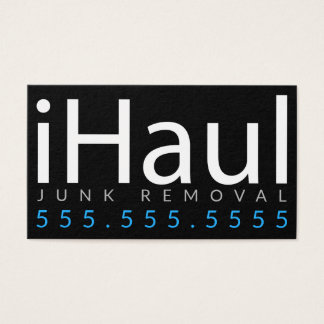 iHaul. Junk Hauling Removal Business Card