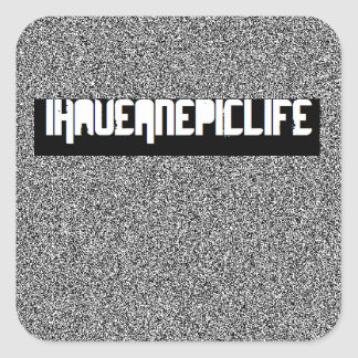 iHaveAnEpicLife Static Edition Sticker sheet