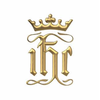 """IHC """"tridimensional"""" de oro con la corona Fotoescultura Vertical"""