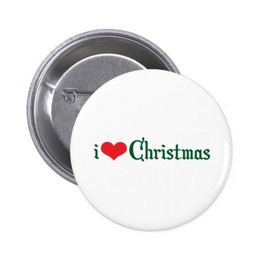 iHeart Christmas Pinback Button