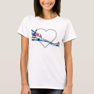 iHeart Music Blue & White T-shirt