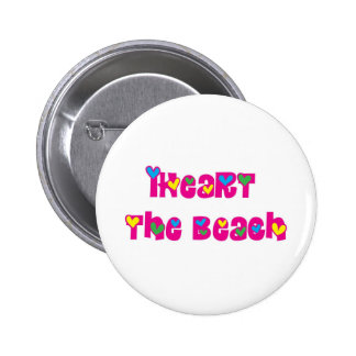 iHeart the Beach Pinback Buttons