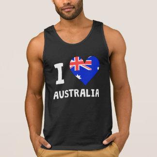 IHeartWI Heart Australia Tank Tops