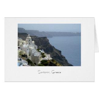 iHillsde town of Fira on the Isle of Santorini Card