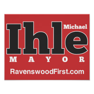 Ihle para alcalde Poster