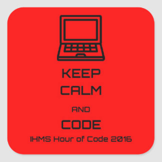 IHMS Hour Of Code 2016 Square Sticker
