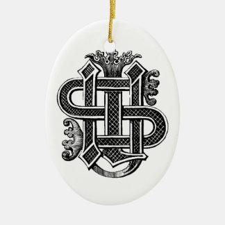 IHS Monogram Christmas Ornament