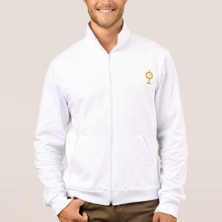 IHS Monstrance logo on Fleece Zip Jogger Jacket