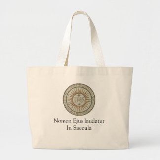 ihs, Nomen Ejus laudatur In Saecula Jumbo Tote Bag