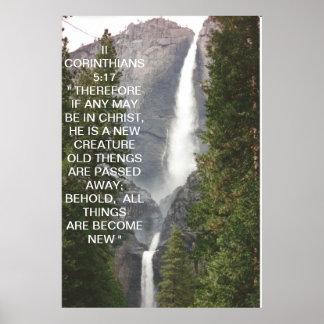 II 5:17 DE LOS CORINTHIANS POSTER