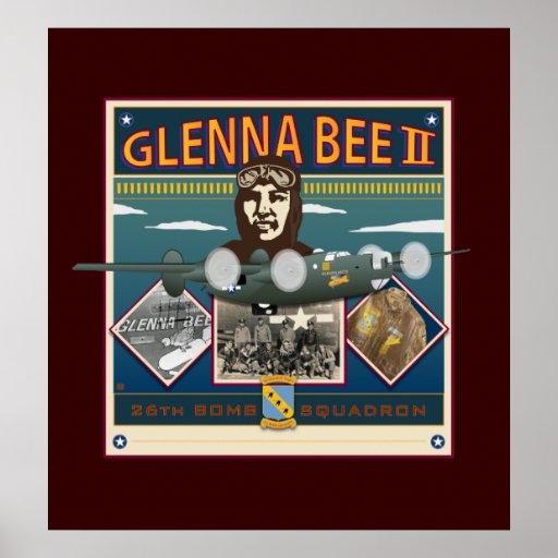 Ii-Impresión de la abeja de Glenna Poster