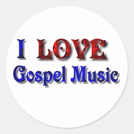 II LOVE Gospel Music-- INVITATION Classic Round Sticker