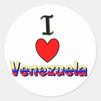 ii pegatina de Venezuela del amor