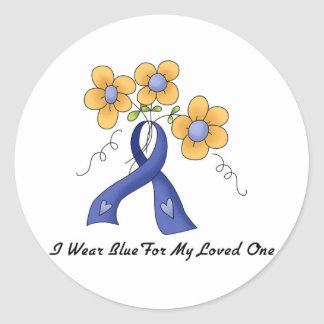 Ii Wear Blue For My Loved One Classic Round Sticker