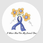 Ii Wear Blue For My Loved One Stickers