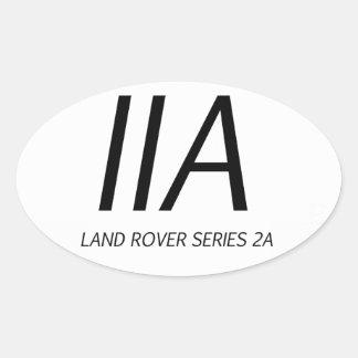 IIA Land Rover Series IIA Oval Sticker