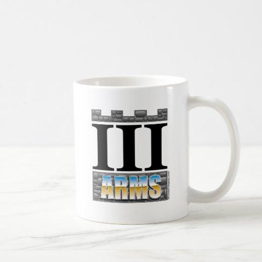 III Arms coffee cup - chrome logo Mugs