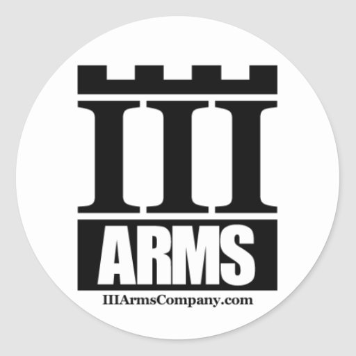 III Arms small round sticker - 20 per sheet