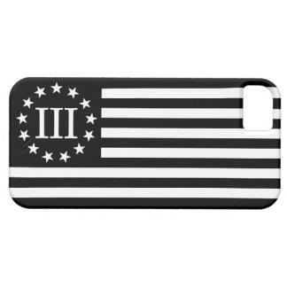 III bandera de Percenter - negro y blanco iPhone 5 Carcasas
