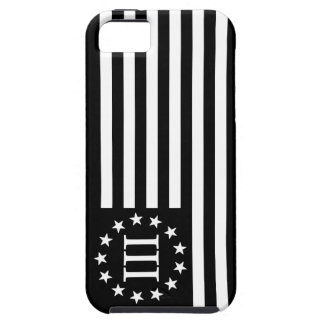 III bandera de Percenter - negro y blanco iPhone 5 Protectores