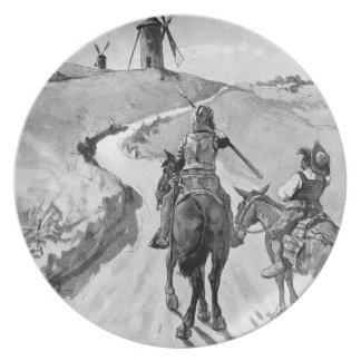 III Centenario-Don Quijote de José Jiménez Aranda Plato Para Fiesta