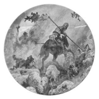 III Centenario-Don Quijote de José Jiménez Aranda Platos Para Fiestas