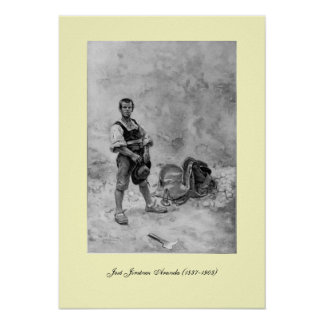 III Centenario-Don Quijote de José Jiménez Aranda Póster