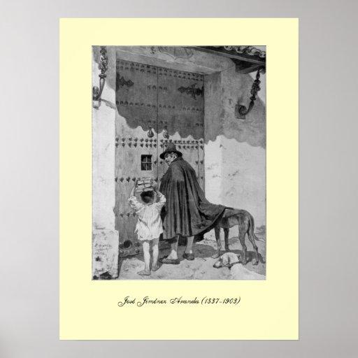 III Centenario-Don Quixote by José Jiménez Aranda Poster