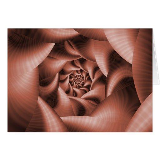 III color de rosa de caoba Tarjeta