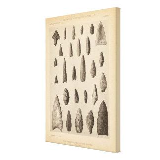 III instrumentos de piedra, tan California Lona Estirada Galerías
