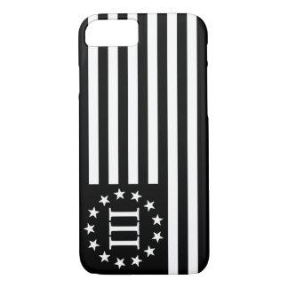 III Percenter Flag - Black & White iPhone 8/7 Case