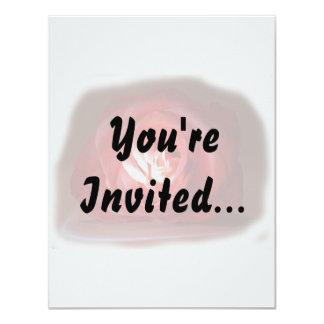 """Iimage puesto de relieve rosa rosado invitación 4.25"""" x 5.5"""""""