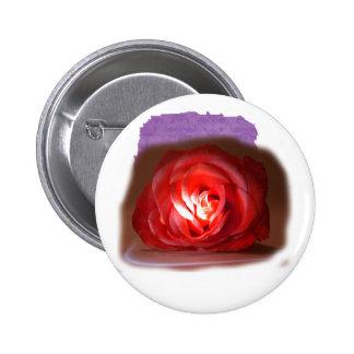 Iimage puesto de relieve rosa rosado pin redondo de 2 pulgadas