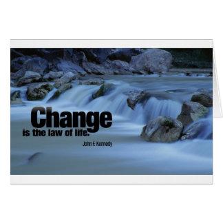 Iinspirational Quote, John F. Kennedy Card