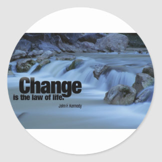Iinspirational Quote, John F. Kennedy Classic Round Sticker