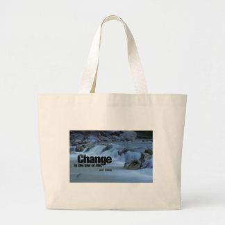 Iinspirational Quote, John F. Kennedy Large Tote Bag