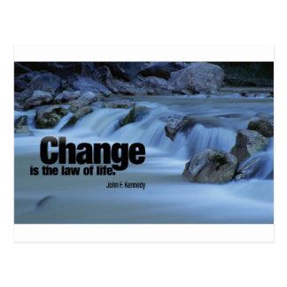 Iinspirational Quote, John F. Kennedy Postcard