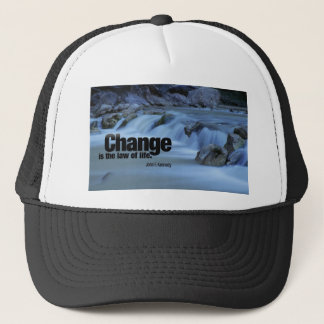 Iinspirational Quote, John F. Kennedy Trucker Hat