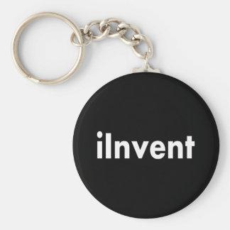 iInvent Basic Round Button Keychain