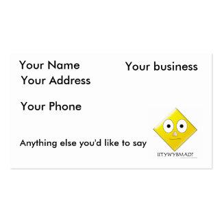 IITYWYBMAD? BUSINESS CARD