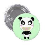 Ijimekko la panda pin redondo de 1 pulgada